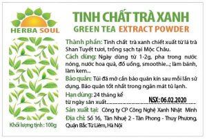 Tác dụng của tinh chất trà xanh